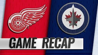 Little earns 500th point as Jets top Red Wings, 4-2