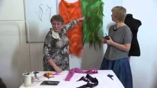 Инна Миронова о валяных палантинах  Выступление на Лаборатории в Шкатулочке