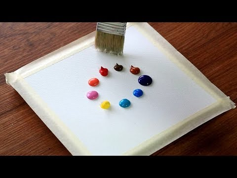 Very Easy & Simple Color Abstract Acrylic Painting techniques #125|Satisfying Relaxing Demonstration