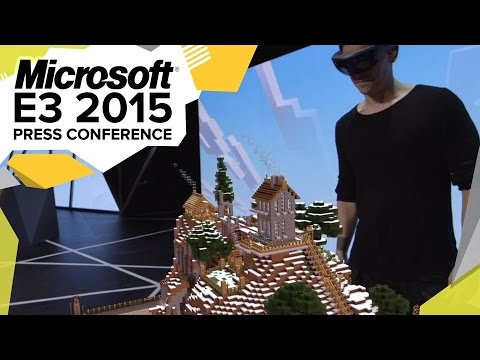 HoloLens Minecraft Demo  - E3 2015 Microsoft Press Conference