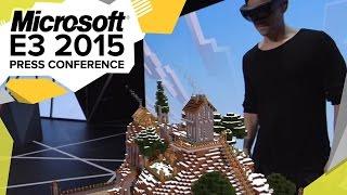 HoloLens Minecraft Demo  - E3 2015 Microsoft Press Conference