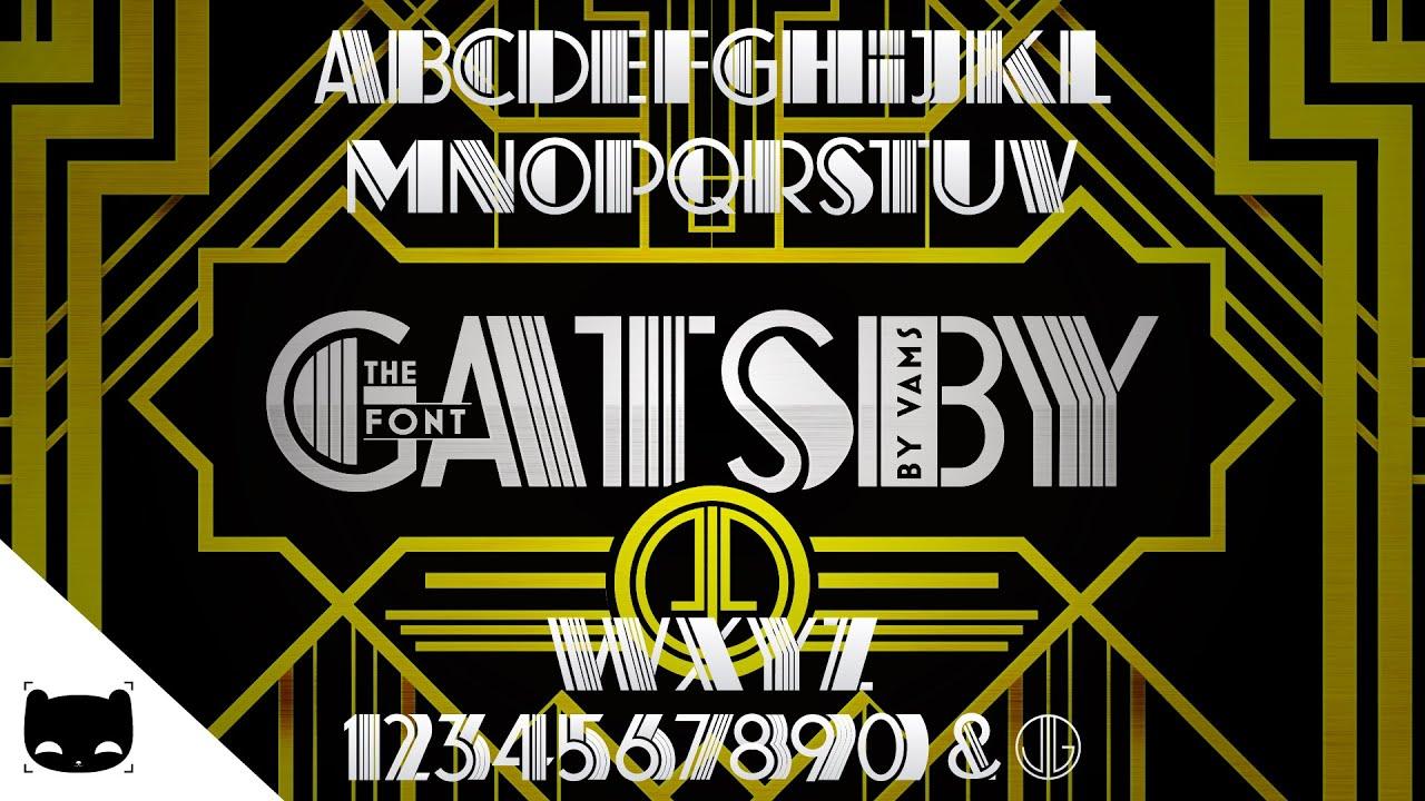Free Font of The Great Gatsby / Deco Pinstripe | SpeedArt ...