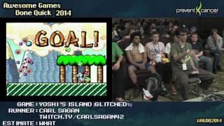 Yoshi's Island Glitched% by Carlsagan42 - AGDQ 2014