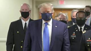 BREAKING: President Trump wears mask during visit to Walter Reed hospital