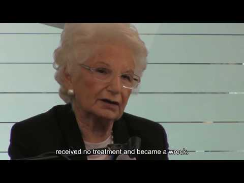 Mrs. Liliana Segre, Holocaust Survivor, speaks at the Americ