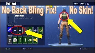 Fortnite - How to Take Off Back Bling or Be a No Skin [Fastest Tutorial - FIX Glitch]