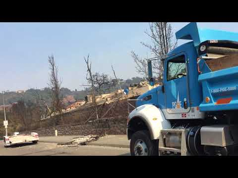 Santa Rosa Fires: Thomas Lake Harris Drive in Fountaingrove