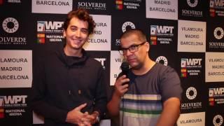 Diogo Veiga no Pódio do Dia 1A Main Event WPT National Iberia
