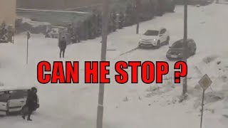 Car CRASH -Sliding, cant stop - ( ice on the road )! Vol 2.