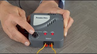 How to Set Boundary Width and Test the Receiver Collar of the Premier Pet In-Ground Fence System