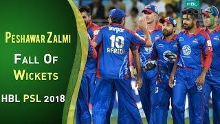 Peshawar Zalmi Fall Of Wickets   Karachi Kings Vs Peshawar Zalmi   Match 7   HBL PSL 2018   PSL