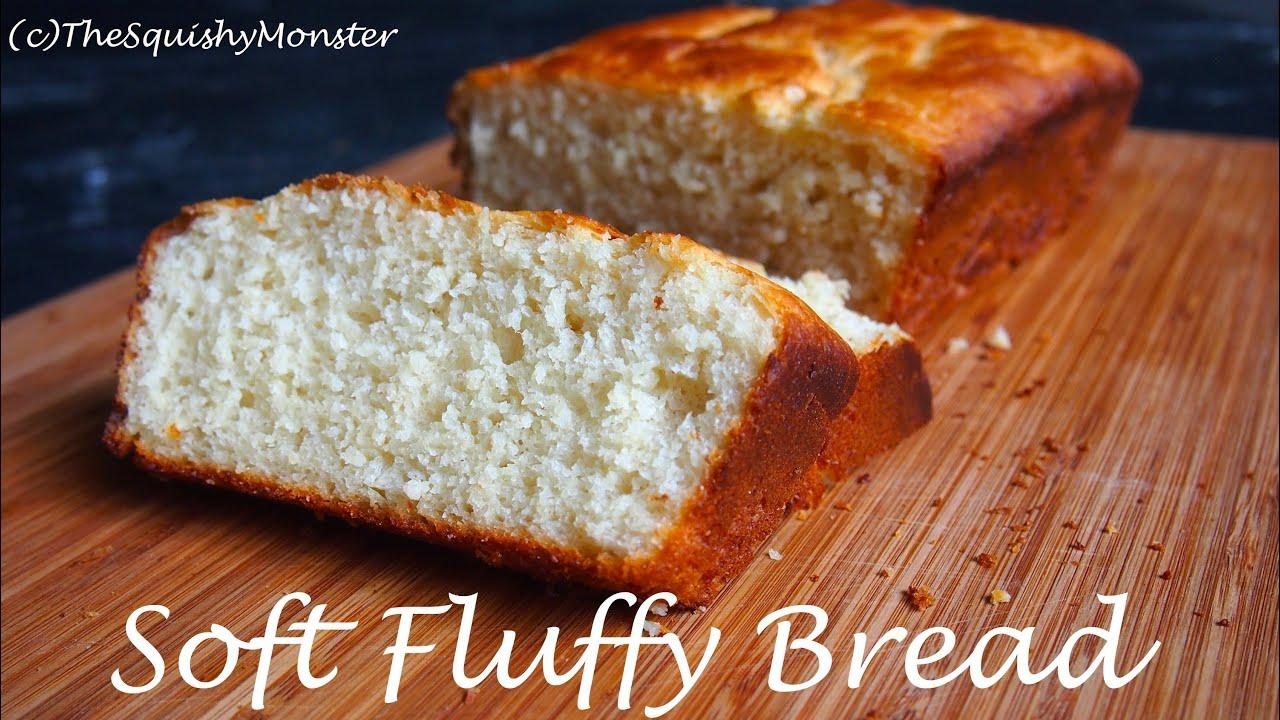 Squishy Recipe : Soft Fluffy Bread Recipe - YouTube