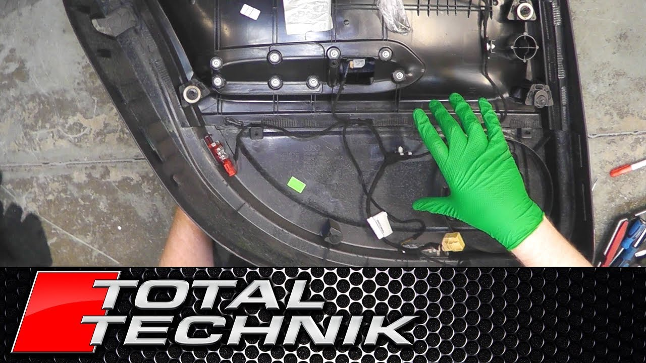 hight resolution of how to remove door card wiring loom rear audi a4 s4 rs4 b6 b7 2001 2008 total technik