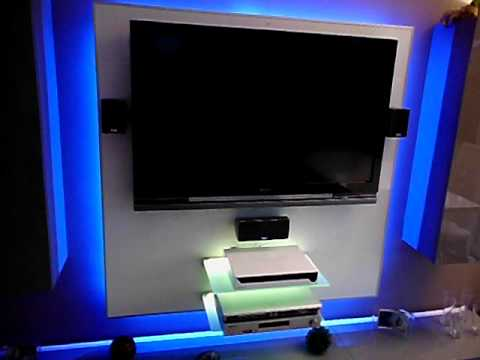 led tv wand selber bauen cinewall do it yourself doovi. Black Bedroom Furniture Sets. Home Design Ideas