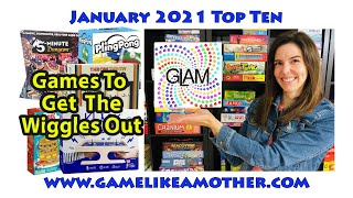 Game Like a Mother Top Ten January 2021: Games to Get the Wiggles Out