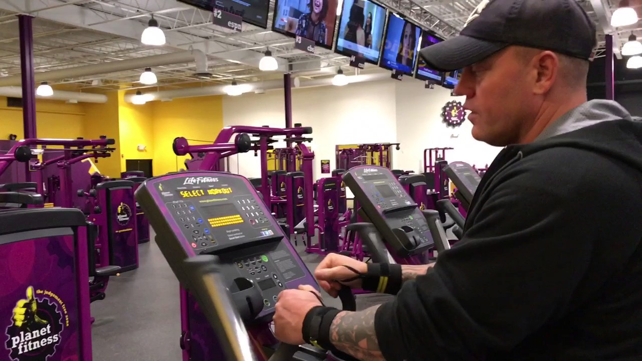planet fitness elliptical machine how to use the