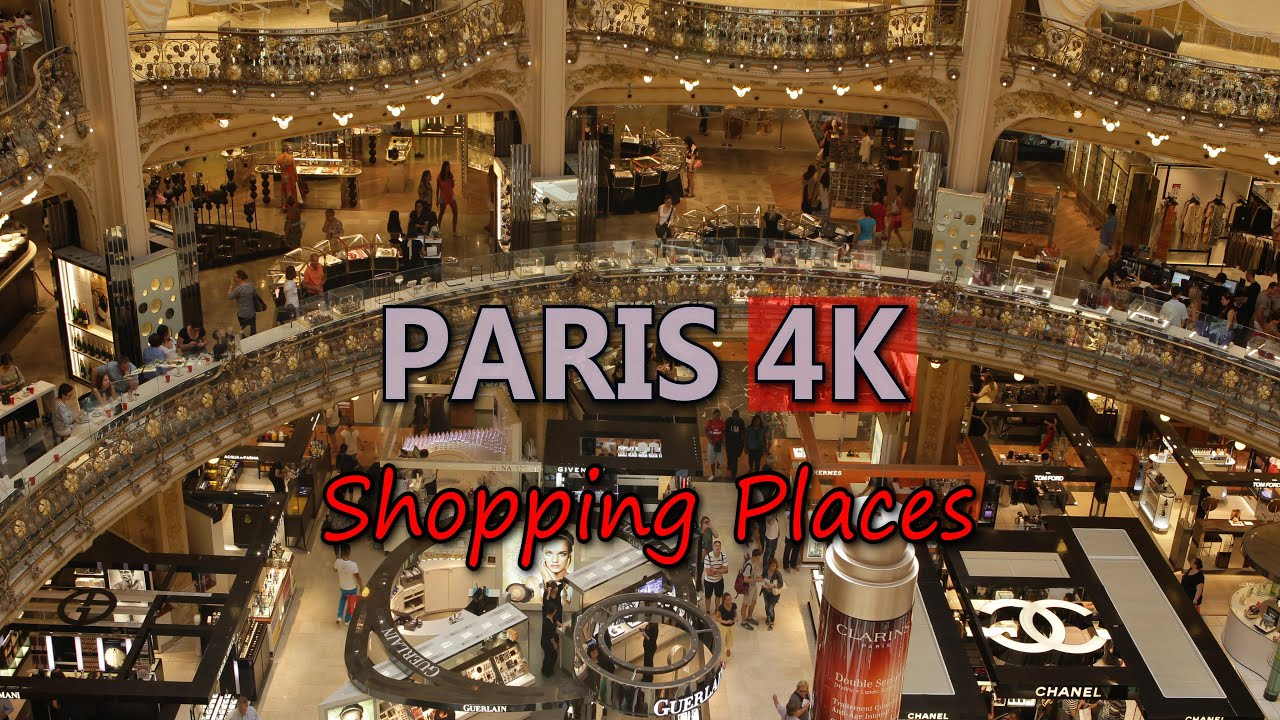 ultra hd 4k paris lafayette shopping mall video stock footage france travel lifestyle tourism. Black Bedroom Furniture Sets. Home Design Ideas