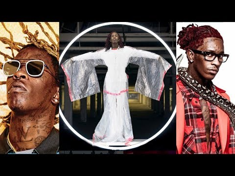 Young Thug Wears TRASH BAG Kimono DRESS in Adidas Originals Campaign