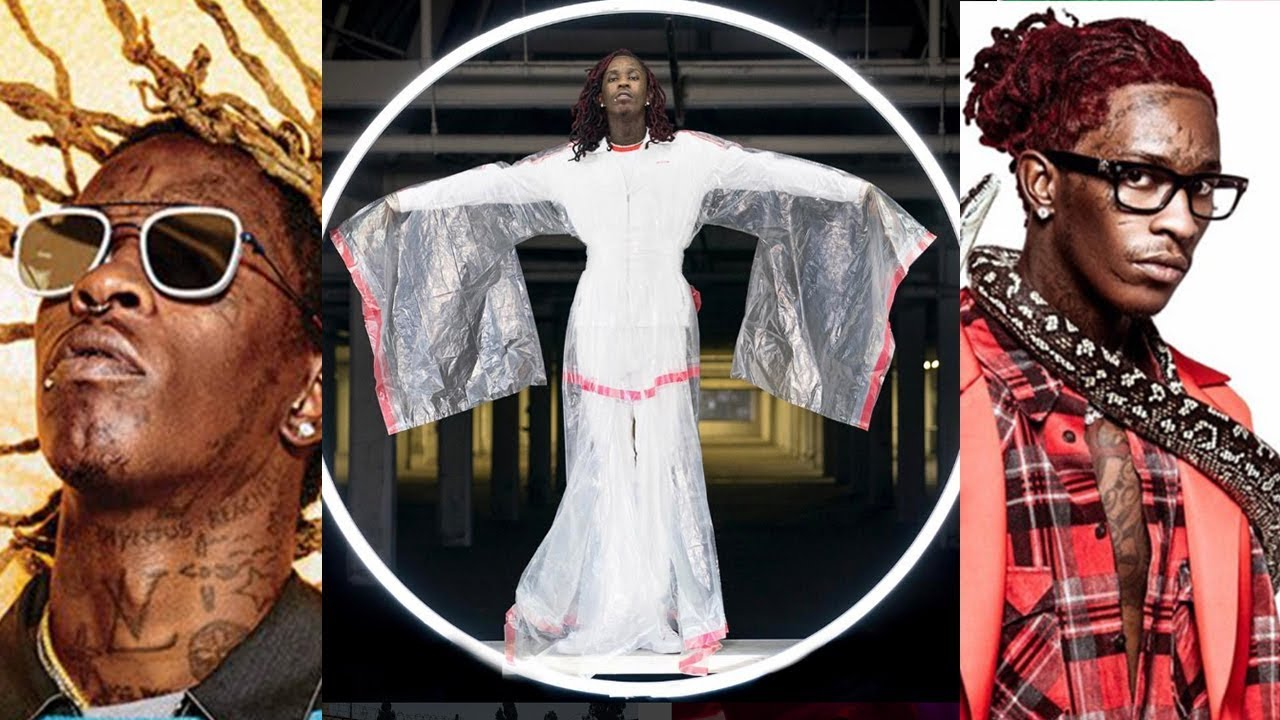 Pictures of young thug wearing a dress