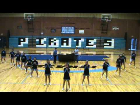 Riverside High School Cheerleader vs.  Football cheer off 2012