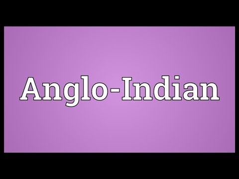 Anglo-Indian Meaning