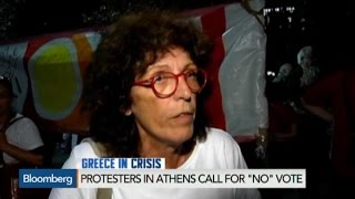 Protesters in Athens Call for 'No' Vote