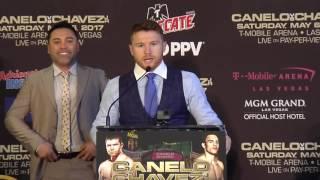Canelo Alvarez addresses his fans in Houston (Golden Boy Promotions)