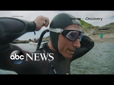 Man attempts record-breaking swim across Pacific Ocean