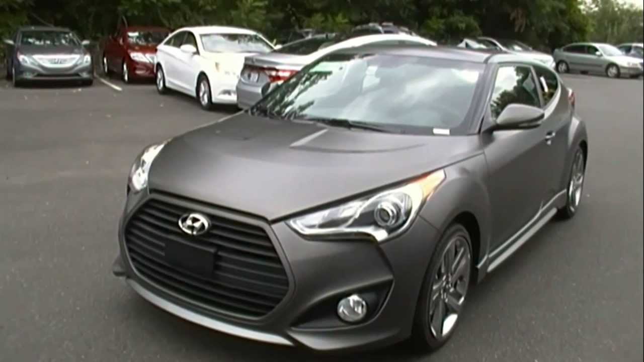 2013 Hyundai Veloster Turbo Matte Grey Finish Youtube