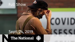 CBC News: The National | Ontario tries to push back 2nd wave | Sept. 24, 2020