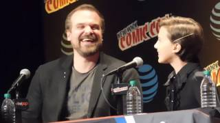 Stranger Things Panel FULL (Millie Bobby Brown, David Harbour @ NYCC 2016)