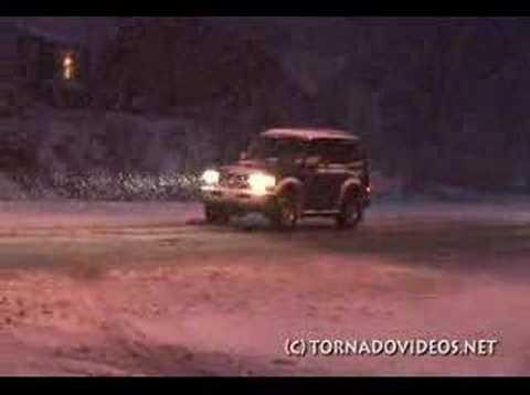 Snow Storm in Grand Rapids, Michigan -- December 28, 2007
