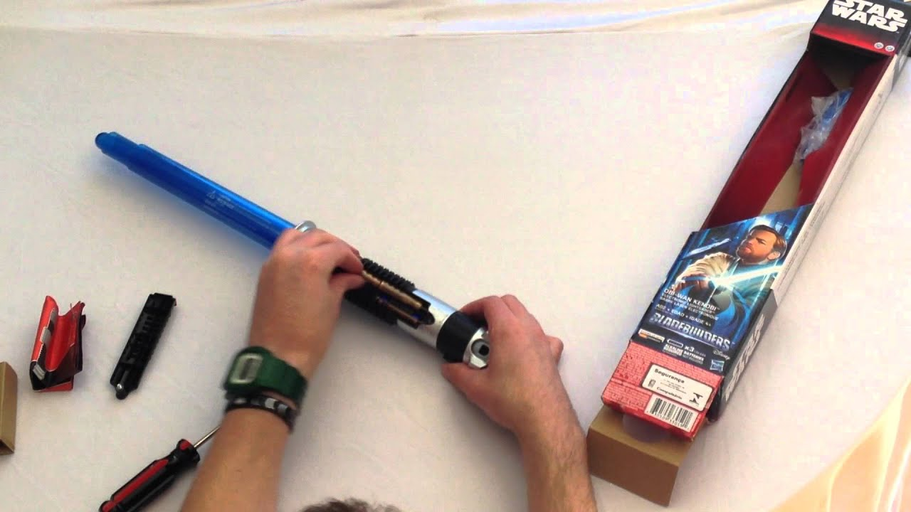 Obiwan Kenobi lightsaber Blade Builder Series Unboxing  YouTube