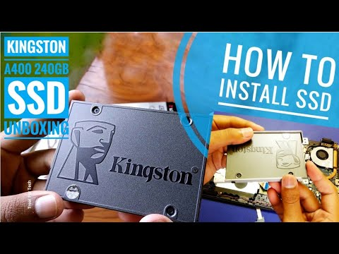 kingston-a400-240-gb-ssd-unboxing-&-installation-on-hp-laptop