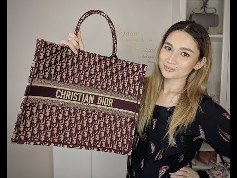 Christian Dior Book Tote In-Depth Review | What Fits inside and Pricing | Oblique Bordeaux Canvas