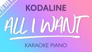 Download All I Want (Piano Karaoke Instrumental) Kodaline