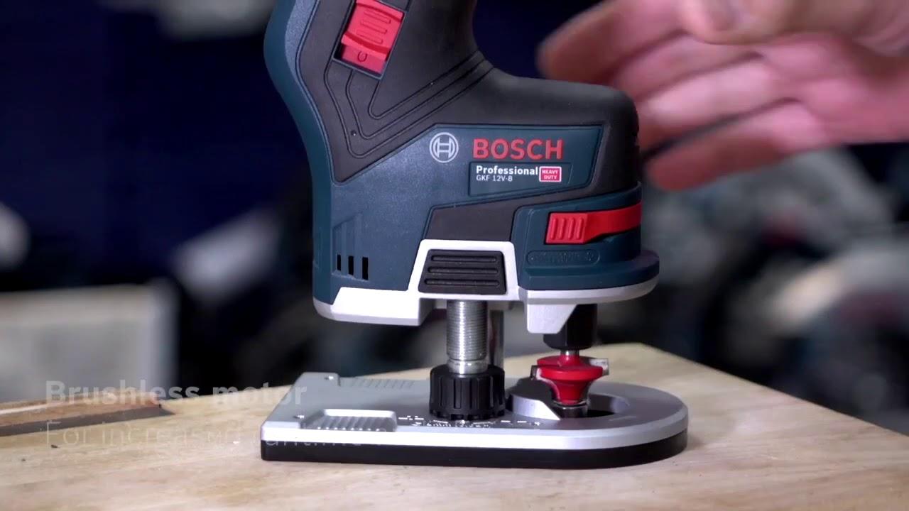 Bosch Gkf 12v 8 Brushless Cordless Compact Router Trimmer Eric Explains Youtube