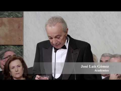Discurso de ingreso en la RAE de José Luis Gómez