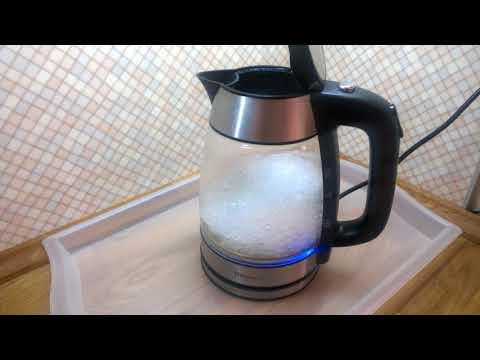 Известковый налет на чайнике  Очищаем, моем  Стеклянный чайник