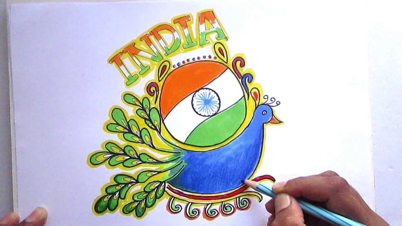 Happy Republic Day Creative Drawing For Kids Happy Republic Day