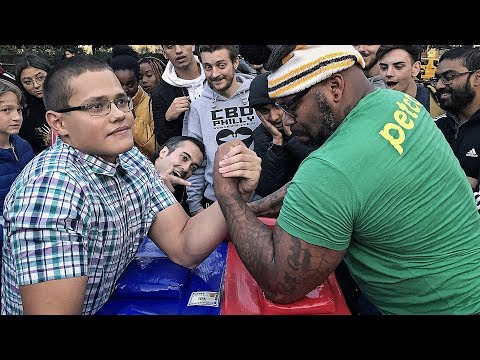 Can You Beat This SCHOOLBOY at ARM WRESTLING ? 2.0