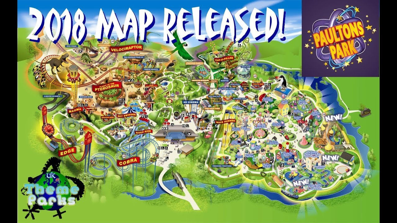 Paultons Park Map Paulton's Park NEW MAP 2018   New 4D Show and removal of the  Paultons Park Map