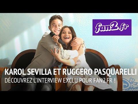 Karol Sevilla et Ruggero Pasquarelli de Soy Luna, découvrez l'interview EXCLU pour fan2.fr !