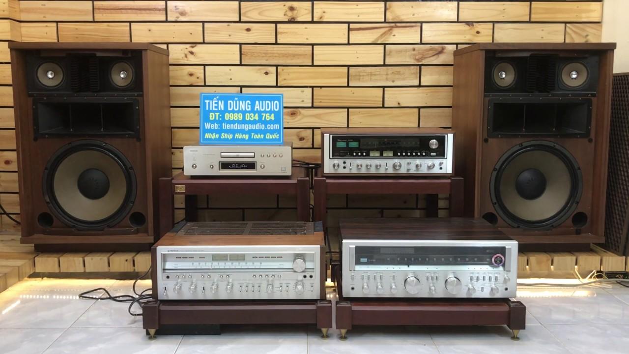 LOA SANSUI SP-5500, AMPLI SANSUI 9090DB, CD DENON S10IIIL TEST