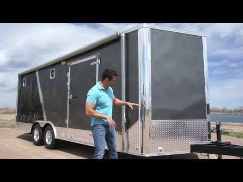 8.5 X 25 ALL SEASON Enclosed Cargo Carhauler Trailer: Furnace A/C Cabinets More!