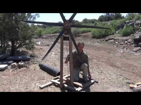 Wind mill water pump home made P#1. - YouTube
