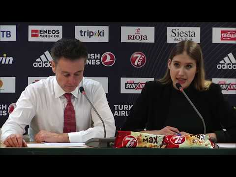 Euroleague Post - Game Press Conference: Panathinaikos BC OPAP Athens vs Anadolu Efes Istanbul