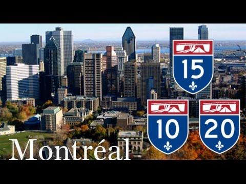 Montreal Freeways : Autoroute 10, 20, 15 (Décarie)