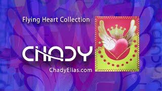 Chady Elias   Visual Artist   Flying Heart   Pink Green   Painting   Fine Art   CHADY Art