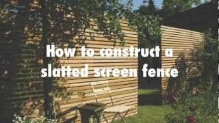 How to construct a slatted screen horizontal fence